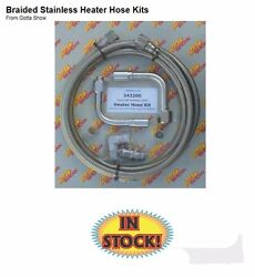 Gotta Show 343200 Braided Heater Hose Kit With 1/2 Intake Fitting - Stainless