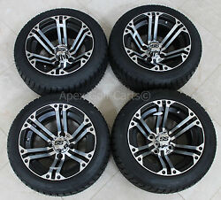 New 4 Tires And Itp Rims For Golf Carts Club Car Yamaha Ezgo Star Low Profile
