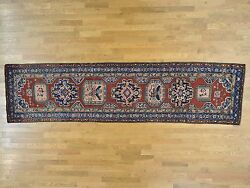 3and0397x14and0392 Antique North West Farsian Even Wear Wide Runner Oriental Rug R27175