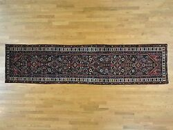 3and0391x12and0399 Antique Farsian Baktiarjoon Exc Cond Runner Oriental Rug R27178