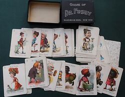 1800s dr fusby playing cards w box