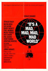 Itand039s A Mad Mad Mad Mad World 1963 One Sheet Poster Style B / Saul Bass Art