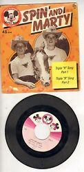 Walt Disney's Mickey Mouse Club Records 45 Rpm Spin And Marty / Vintage Wh