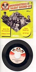 Walt Disney's Mickey Mouse Club Records 45 Rpm Talent Round-up Vtg Wh