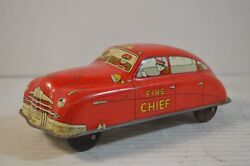 courtland fire chief tin car toy