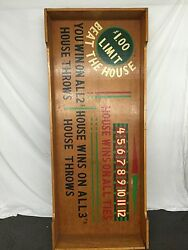 Beat The House Craps Dice Table Chance-gambling-professional Size Casino Night