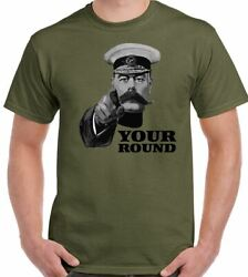 Beer T-shirt Lord Kitchener Your Round Mens Funny Wwii Poster Alcohol Bbq Booze