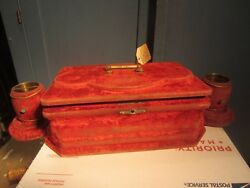 Antique Victorian Cigar Holder Box Ashtray Matches Pipes