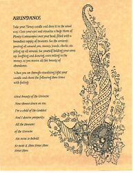 Book Of Shadows Spell Pages Abundance Spell Wicca Witchcraft Bos
