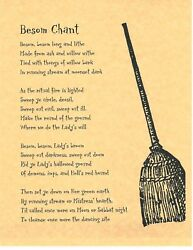 Book Of Shadows Spell Pages Besom Spell Wicca Witchcraft Bos