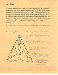 Book Of Shadows Spell Pages Chakras Wicca Witchcraft Bos