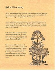 Book Of Shadows Spell Pages Anxiety Relief Spell Wicca Witchcraft Bos
