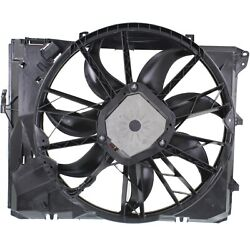 Radiator Cooling Fan For 06-12 BMW 3-Series 3.0L Eng w/o Turbo Automatic Trans