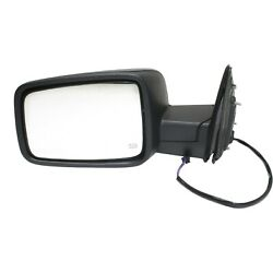 Mirror For 2013-2018 Ram 1500 2500 Manual Folding Textured Black Front Left
