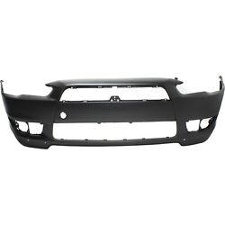 Bumper Cover For 2008-2015 Mitsubishi Lancer Front Plastic With W/ Air Dam Holes