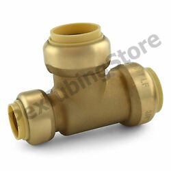25 3/4 X 1/2 X 3/4 Sharkbite Style Push-fit Push To Connect Lf Brass Tees