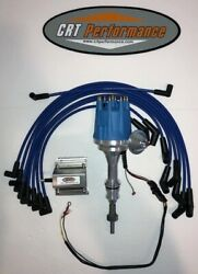 Small Cap Ford 260-289-302 Blue Hei Distributor + 60k Coil + 8mm Plug Wires Usa