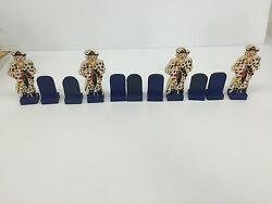 Vintage Antique Carnival Targets Wood Shooting Gallery Clowns Full Set 11 Pieces