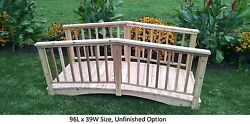 Amish-made Weight-bearing Cedar Baluster Bridge - Bridges In 8 Sizes And 9 Colors