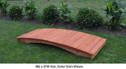 Amish-made Weight-bearing Cedar Plank Bridge - Bridges In 8 Sizes And 9 Colors