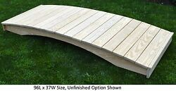 Amish-made Weight-bearing Pine Plank Bridge - Bridges In 8 Sizes And 9 Colors