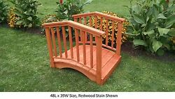 Amish-made Weight-bearing Pine Baluster Bridge - Bridges In 8 Sizes And 10 Colors