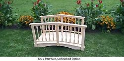 Amish-made Weight-bearing Pine Spindle Bridge - Bridges In 8 Sizes And 10 Colors