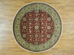 9and039x9and039 Hereke Design 300 Kpsi Round Wool And Silk Hand Knotted Rug R28352