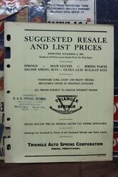 1953 Triangle Auto Springs Corp. Suggested Resale And List Prices 252