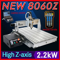 USB four 4axis 8060 2200W cnc router engraver engraving milling cutting machine