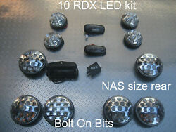 Rdx Led Clear 10 Lights/small/large Side Repeaters Numplate Defender 1998-2016 D