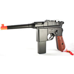 New Ww2 Mauser Broomhandle C96 German Airsoft Spring Hand Gun Pistol W/ 6mm Bb