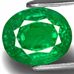 Zambia Emerald 3.64 Cts Natural Untreated Fiery Green Oval