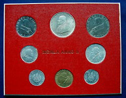 1960 Vatican Giovanni Xxiii Super Rare Set Coins With Silver In Official Red Box