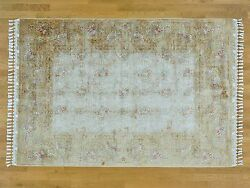 6'x8' Hand Knotted Soft Colors Silken 400 kpsi Oriental Rug R24065