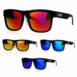 Kush Mens Reflective Color Mirror Lens Horn Rim Sport Sunglasses $9.95