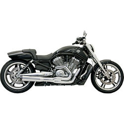 Bassani Chrome Road Rage II B1 2-into-1 Exhaust for 2007-16 Harley V-Rod Models