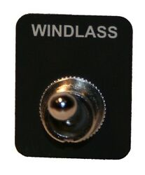 Toggle Switch - Labeled Boat Marine, Dpdt, Sealed, Waterproof - Windlass Label