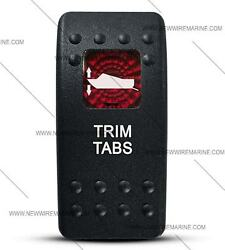 Labeled Contura Ii Rocker Switch Cover Only, Trim Tabs Red Lens