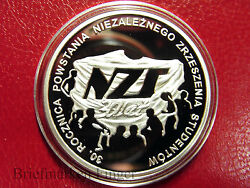 2011 Poland Silver Proof 10 Zl Student Uprising