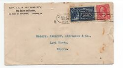 1899 Us Cover With 10 Cent Special Delivery Stamp Harrisburg Pa To Lock Haven