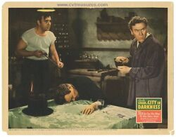 Charlie Chan City In Darkness Vintage Lobby Card Movie Poster W/lon Chaney 1939