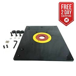 Big Horn 18101 9-inch X 12 Router Table Insert Plate W/ Guide Pin And Snap Ring