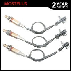 New 3pcs O2 Oxygen Sensor Front Right+left Downstream And Upstream For Chevy Gmc