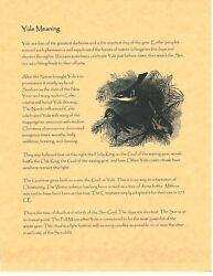 Book Of Shadows Spell Pages Yuletide Bos Set Meaning History Correspondences