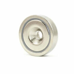 2x A75 Powerful 162kg Shallow Countersunk Ring Pot Magnet Holder Heavy Duty