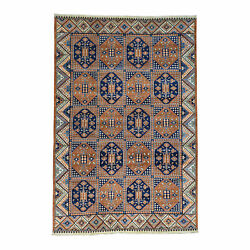 9and03910x14and03910 Garden Design Afghan Ersari Hand Knotted Oriental Rug R30336