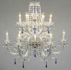 Made With Crystal Chandelier With Blue Crystals