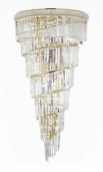 French Empire Crystal Chandelier Lighting With Gold Finish H 54 X W 30