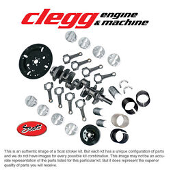 Ford 302-331 Balanced Scat Stroker Kit, Mahle Forged Flattop Pistons I-beam Rods